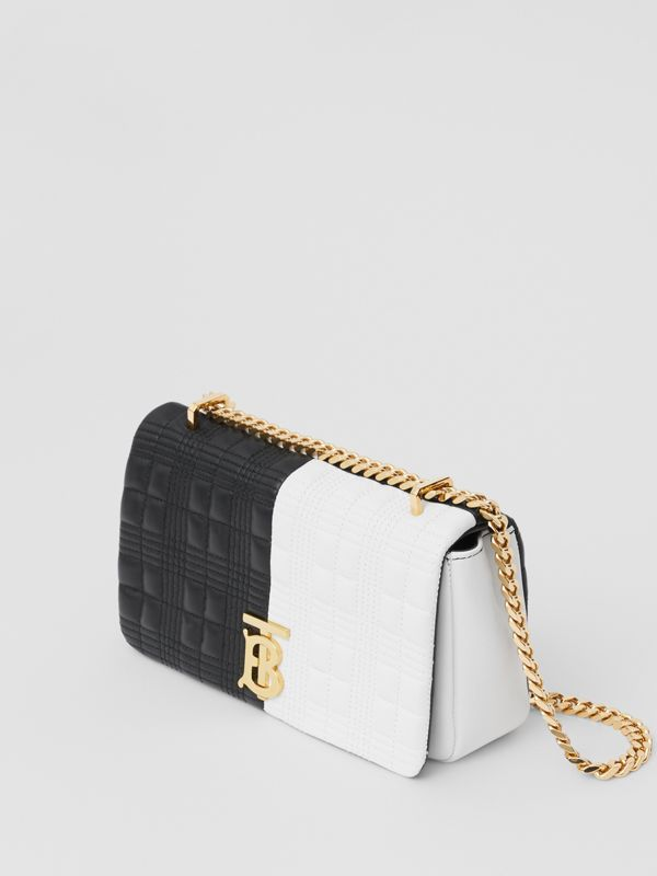 Small Quilted Two-tone Lambskin Lola Bag in White/black - Women | Burberry Canada - cell image 3
