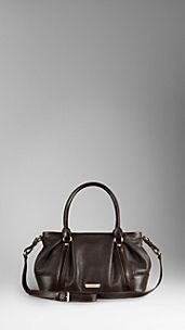 Medium Grainy Leather Tote Bag
