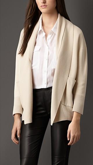 Shawl Collar Silk Cashmere Cardigan