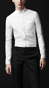 Straight Fit Button-Down Shirt