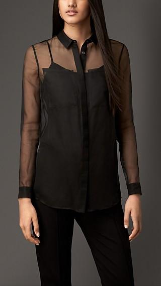 Sheer Silk Organza Shirt