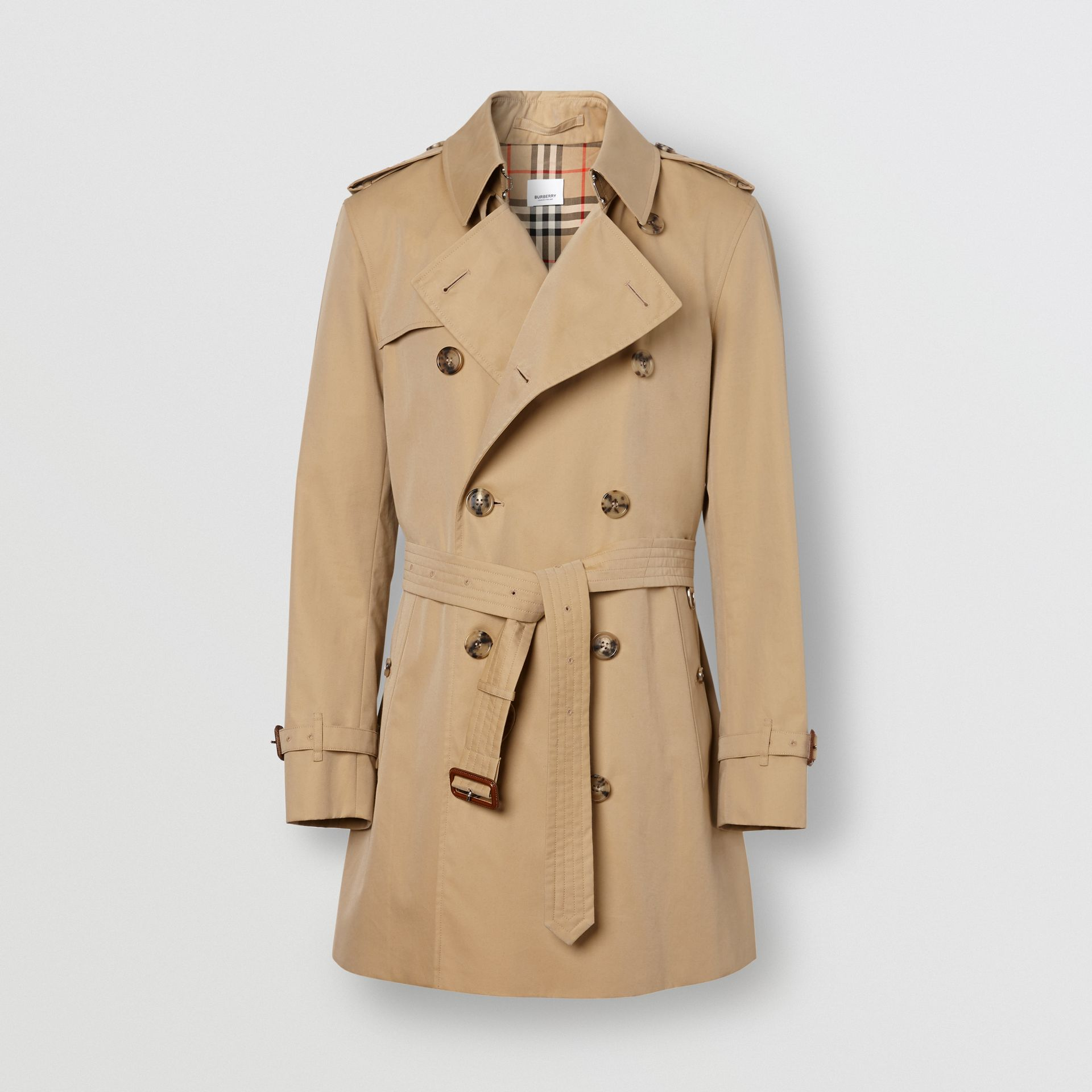 The Short Wimbledon Trench Coat in Honey - Men | Burberry Australia - gallery image 3