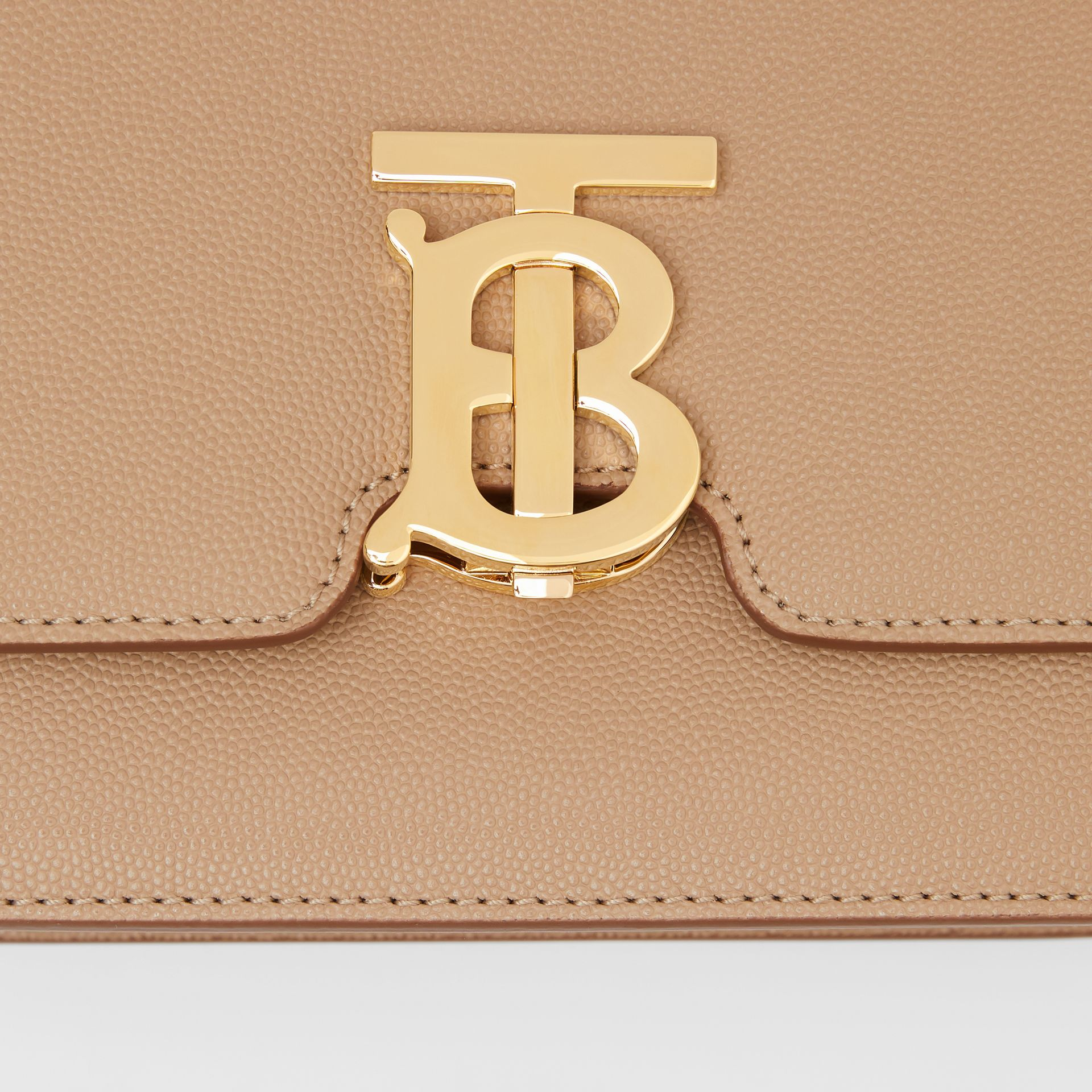 Small Grainy Leather TB Bag in Archive Beige | Burberry United States - gallery image 1