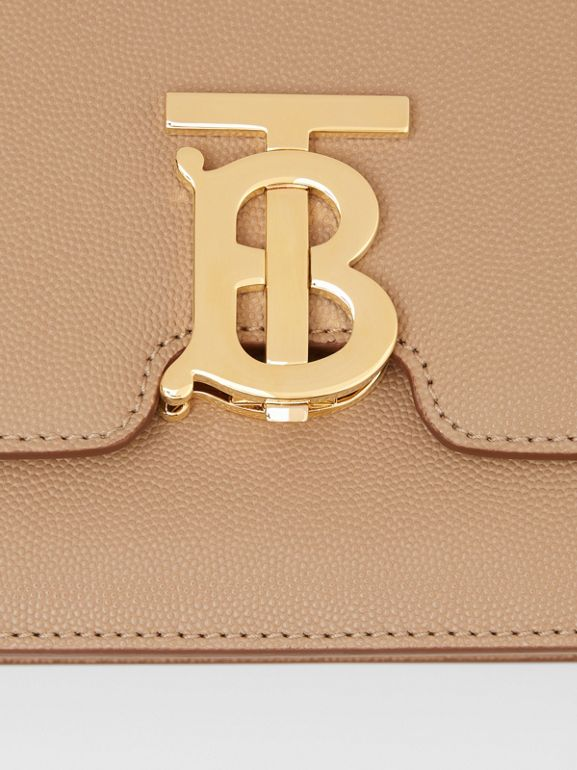Small Grainy Leather TB Bag in Archive Beige | Burberry United States - cell image 1