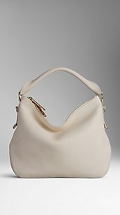 Small Heritage Grain Leather Hobo Bag