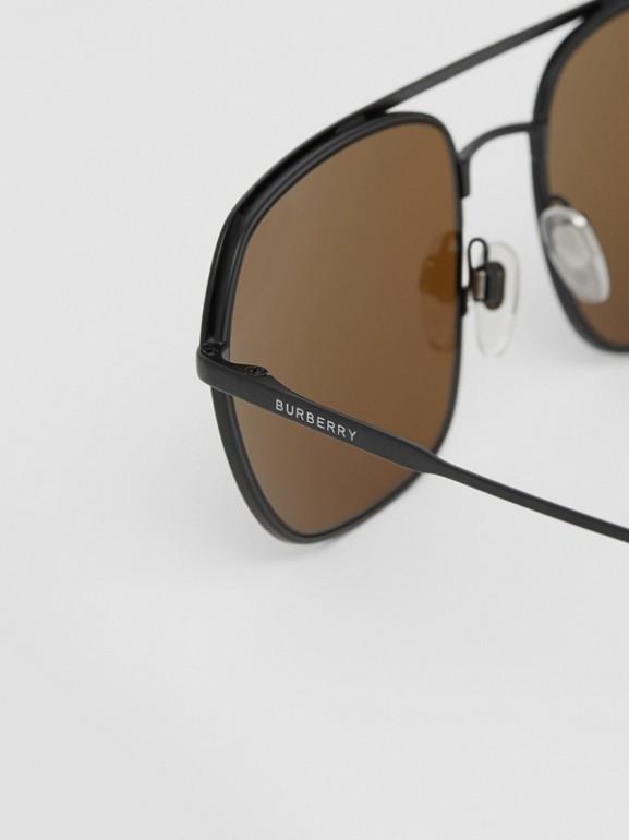 Óculos de sol com armação aviador quadrada - Homens | Burberry - cell image 1