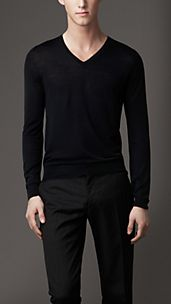Check Detail Merino Sweater