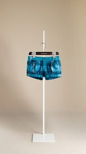 Check Cotton Voile Shorts