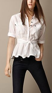 Military Peplum Shirt