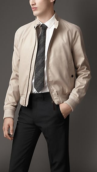 Cotton Gabardine Blouson