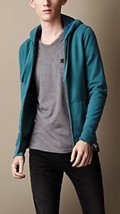 Cotton Jersey Hooded Top