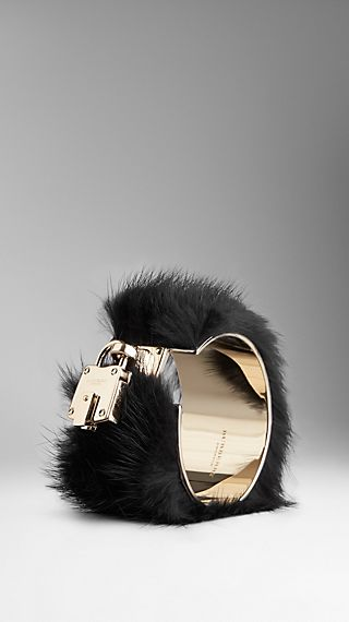 Mink Detail Metal Cuff