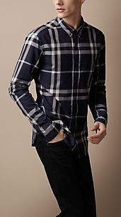 Camisa de checks Exploded en algodón
