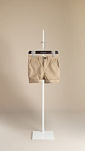 Cotton Twill Chino Shorts