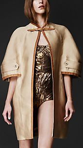 Nappa Frame Cape Coat
