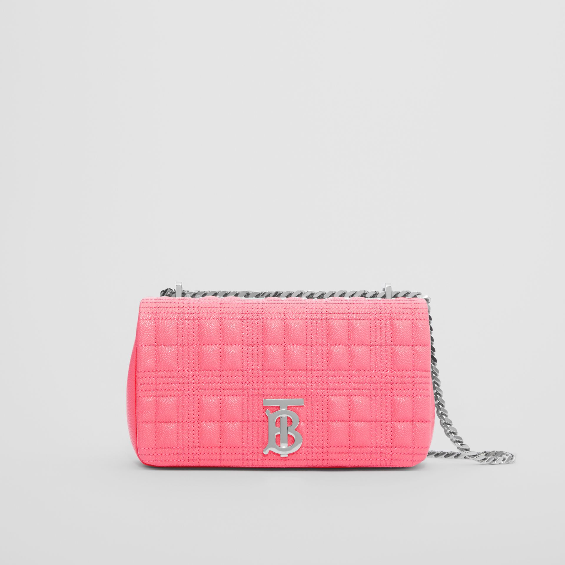 Small Quilted Grainy Leather Lola Bag in Candy Floss - Women | Burberry - gallery image 0