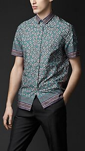 Cotton Diamond Print Shirt
