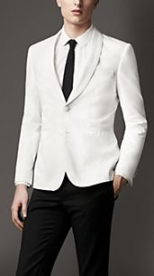 Modern Fit Shawl Lapel Cotton Jacket