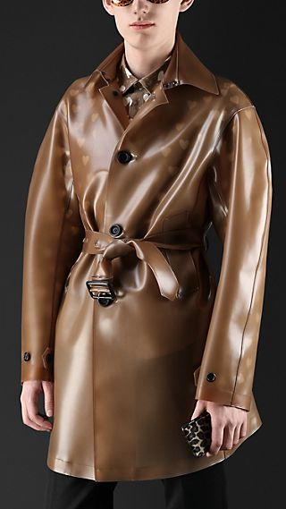 Translucent Vinyl Trench Coat
