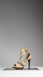 Buckle Detail Nubuck Sandals
