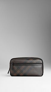 Smoked Check Washbag