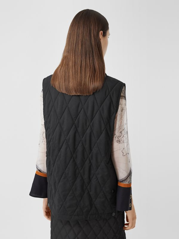 Diamond Quilted Gilet in Black   Burberry United Kingdom - cell image 2