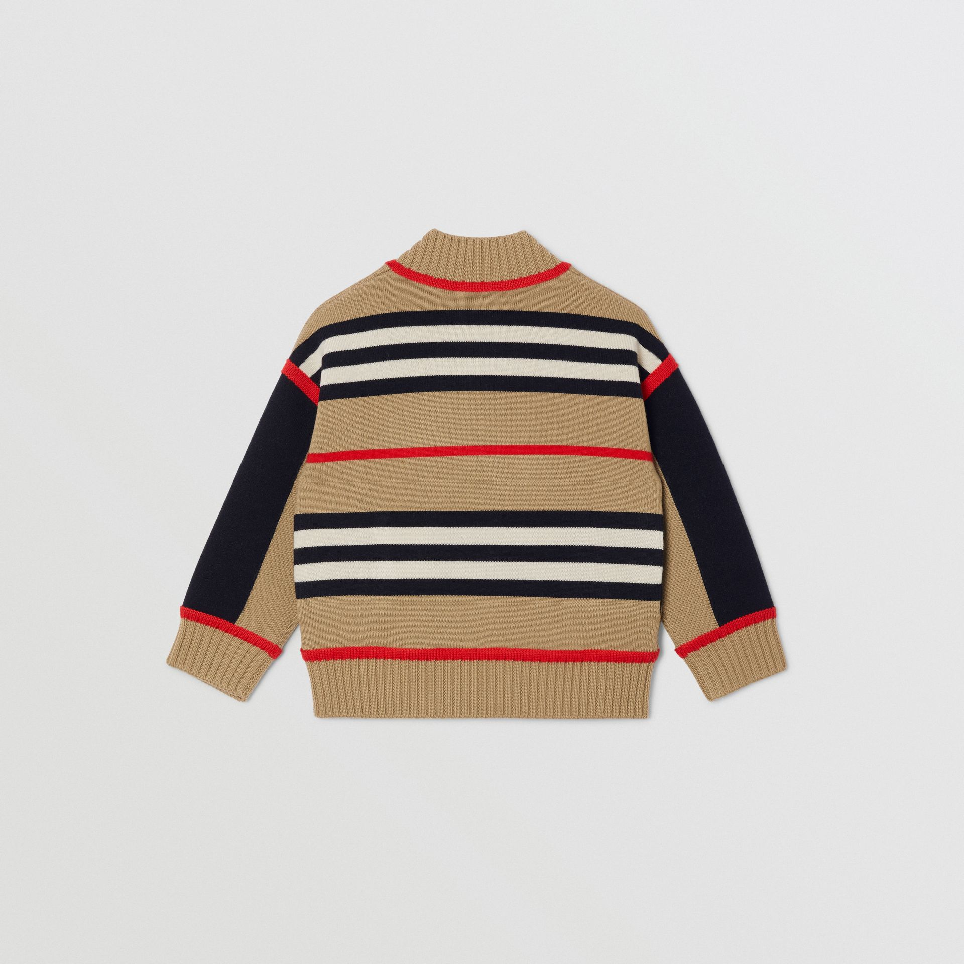 Icon Stripe Wool Cashmere Blend Cardigan | Burberry United Kingdom - gallery image 4