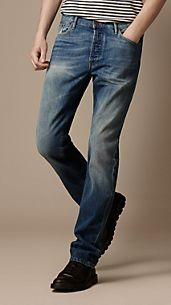 Swaine Vintage Wash Denim Jeans