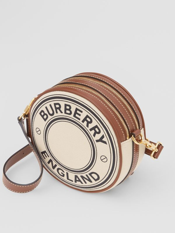Logo Graphic Canvas and Leather Louise Bag in Natural - Women | Burberry - cell image 3
