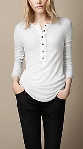 Cotton Jersey Henley