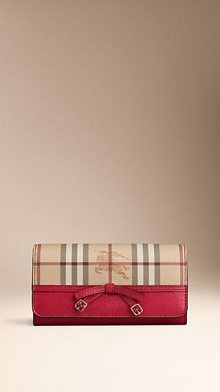Haymarket Check Bow Detail Continental Wallet
