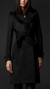 Trench coat en cachemir encolado