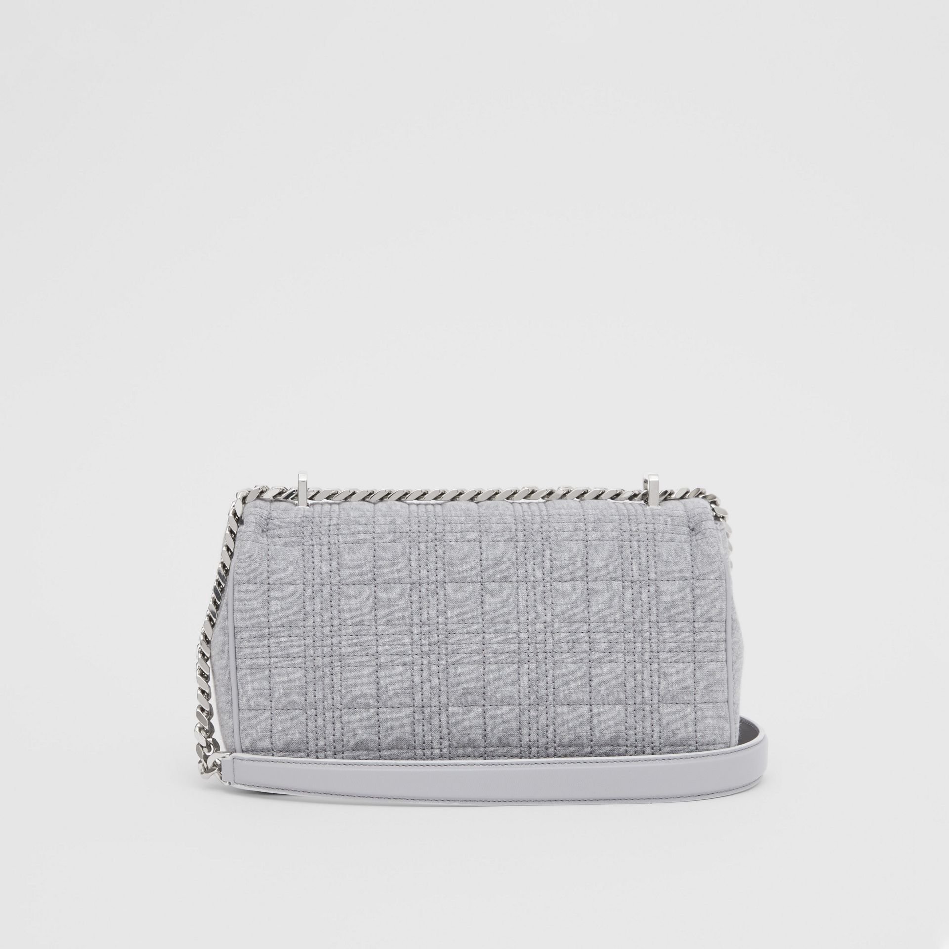 Small Quilted Jersey Lola Bag in Grey Taupe Melange | Burberry - gallery image 5