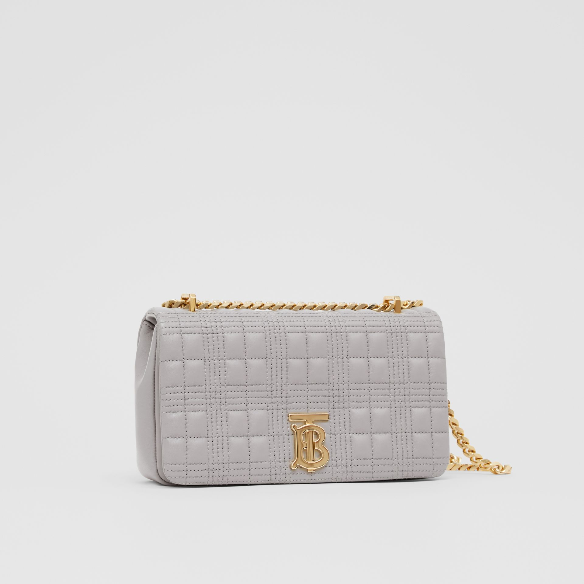 Small Quilted Lambskin Lola Bag in Cloud Grey | Burberry - gallery image 8