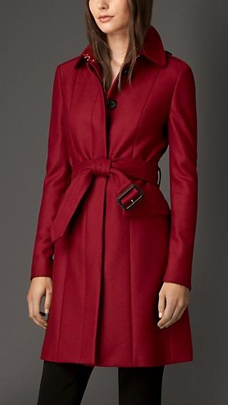 Compact Virgin Wool Military Coat
