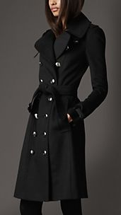 Long Wool Cashmere Trench Coat