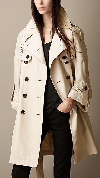 Oversize Dolman Sleeve Trench Coat