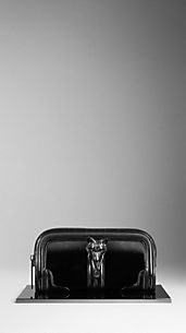 Country Animal Patent Leather Clutch Bag