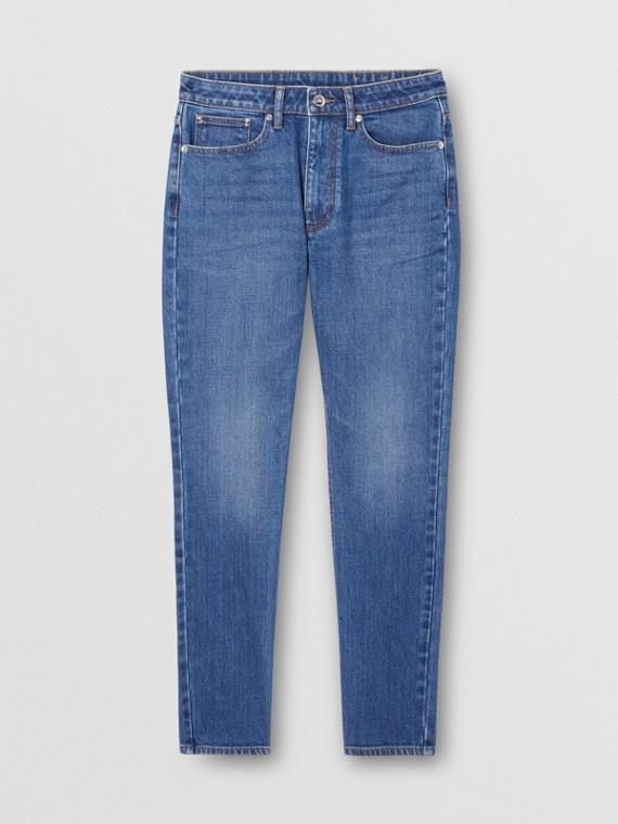 Прямые джинсы из японского эластичного денима (Индиго)