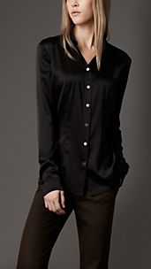 Slim Fit Stretch Silk Shirt