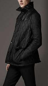 Leather Panel Quilted Jacket