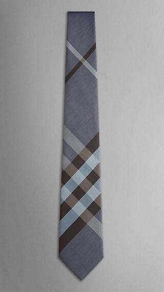 Check Silk Cotton Tie