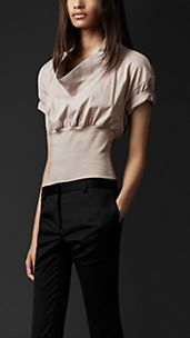Fitted Waist Cotton T-Shirt