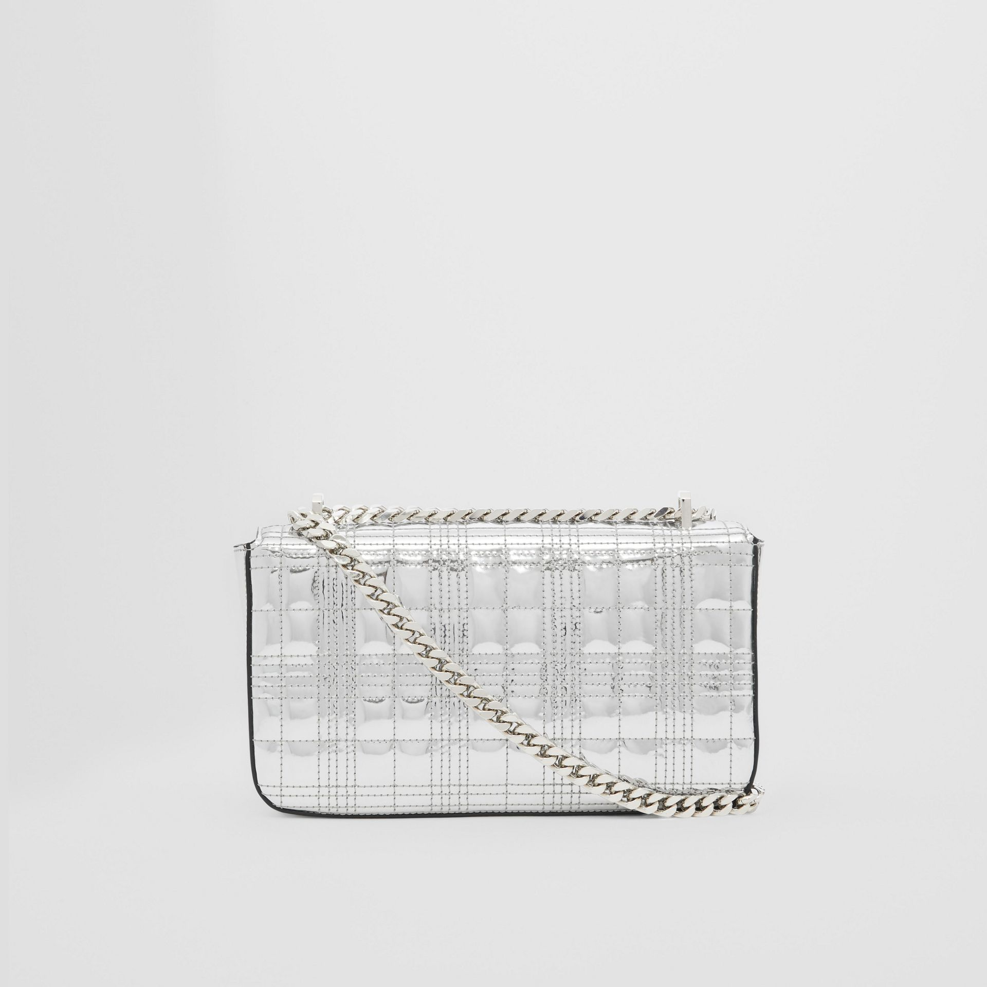 Small Quilted Metallic Leather Lola Bag in Silver - Women | Burberry - gallery image 5