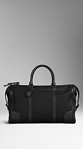 London Leather and Nylon Holdall