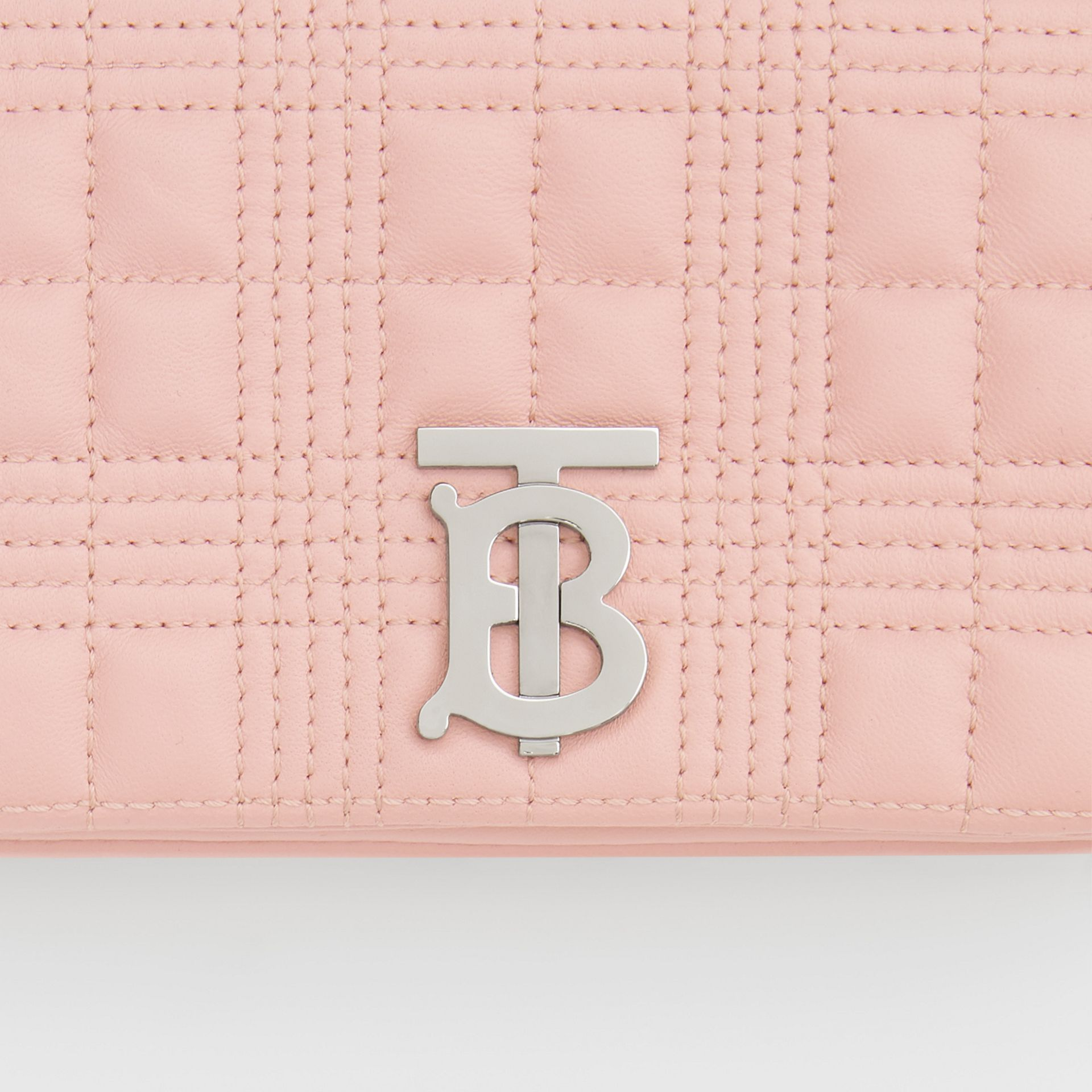 Mini Quilted Lambskin Lola Bag in Blush Pink - Women | Burberry Canada - gallery image 1