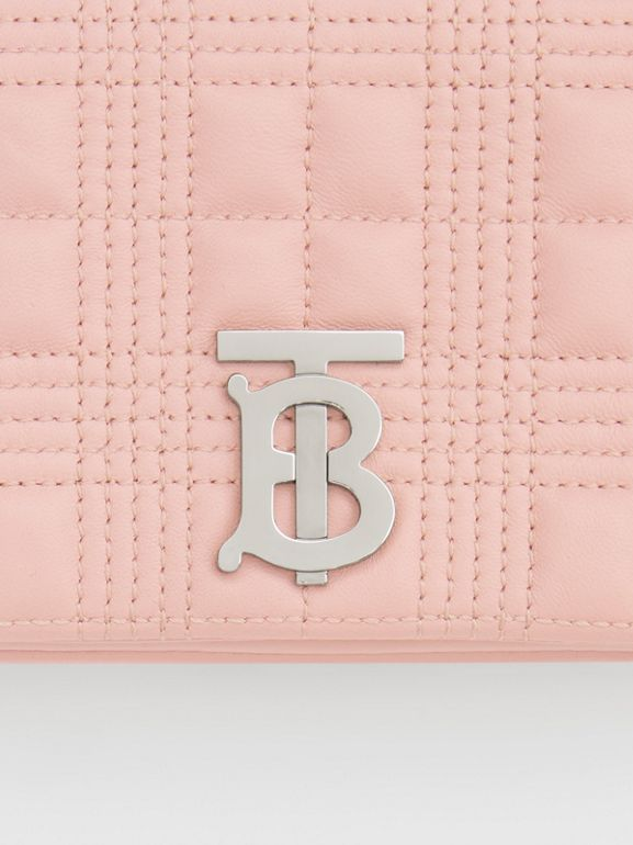 Mini Quilted Lambskin Lola Bag in Blush Pink - Women | Burberry - cell image 1