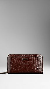 Alligator Leather Ziparound Wallet