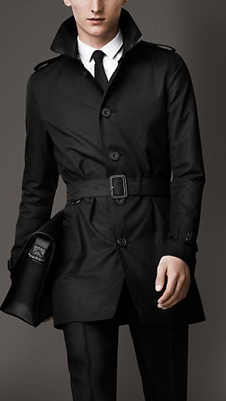 Mid-Length Lizard Collar Trench Coat