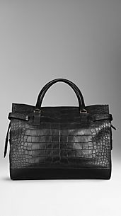 Tarnished Alligator Leather Holdall